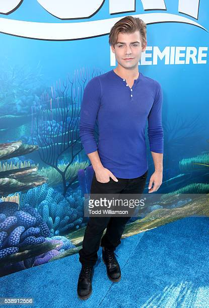 Actor Garrett Clayton attends the world premiere of DisneyPixar's 'Finding Dory' at the El Capitan Theatre on June 8 2016 in Hollywood California