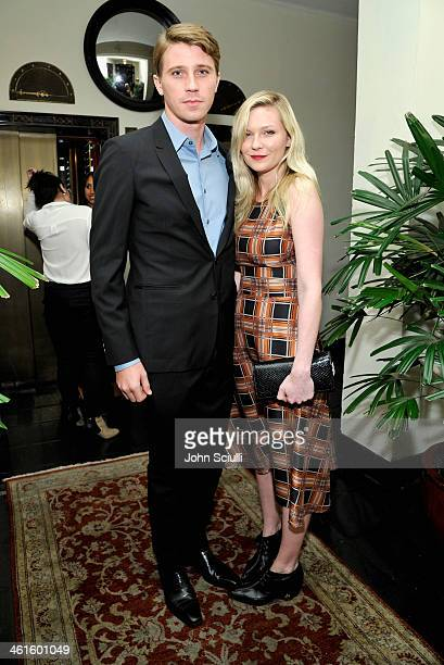 Actor Garrett Hedlund and actress Kirsten Dunst attend the W Magazine celebration of The Best Performances Portfolio and The Golden Globes with...