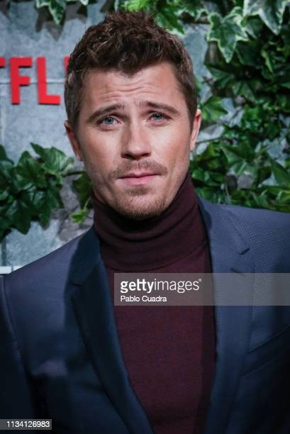 Actor Garrett Hedlund attends the Triple Frontier premiere at Callao Cinema on March 06 2019 in Madrid Spain