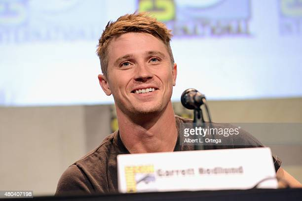 Actor Garrett Hedlund attends the Warner Bros 'Pan' presentation during ComicCon International 2015 at the San Diego Convention Center on July 11...