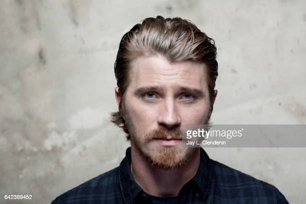 Actor Garrett Hedlund from the film Mudbound is photographed at the 2017 Sundance Film Festival for Los Angeles Times on January 21 2017 in Park City...