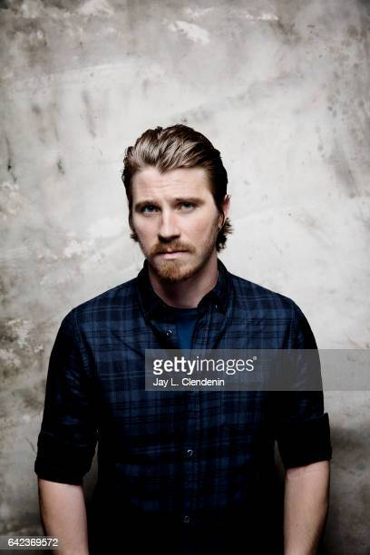 Actor Garrett Hedlund from the film 'Mudbound' is photographed at the 2017 Sundance Film Festival for Los Angeles Times on January 21 2017 in Park...