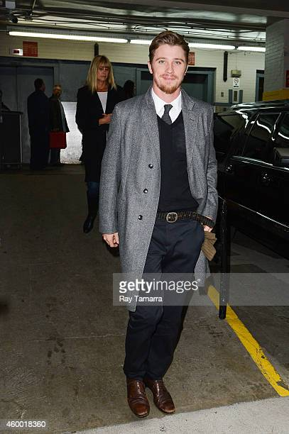Actor Garrett Hedlund leaves the 'Huff Post Live' taping at the Huffington Post Studios on December 5 2014 in New York City