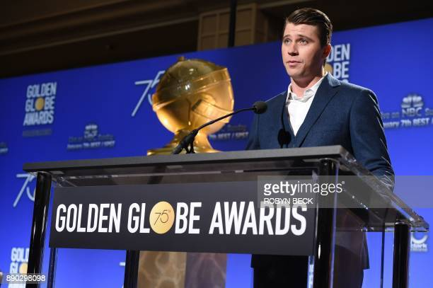 Actor Garrett Hedlund speaks at the 75th annual Golden Globe Awards nomination announcement, December 11 at the Beverly Hilton Hotel in Beverly...