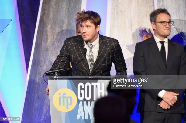 Actor Garrett Hedlund speaks onstage during IFP's 27th Annual Gotham Independent Film Awards on November 27 2017 in New York City