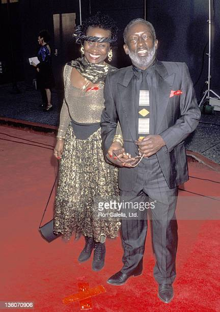 Actor Garrett Morris and date Freda attend the 19th Annual People's Choice Awards on March 8 1993 at Universal Studios in Universal City California