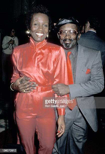 Actor Garrett Morris and date Freda attend the Murder She Wrote 100th Episode Celebration on February 12 1989 at The Biltmore Hotel in Los Angeles...