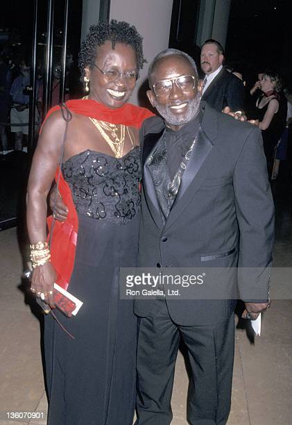 Actor Garrett Morris and wife Freda Morris attend the First Annual American Comedy Honors Gala on August 23 1997 at Beverly Hilton Hotel in Beverly...