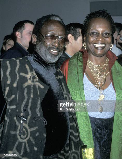 Actor Garrett Morris and wife Freda Morris attend the WB Network Winter TCA Press Tour on January 6 2001 at Il Fornaio Restaurant in Pasadena...