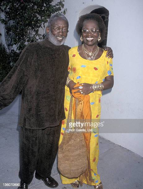 Actor Garrett Morris and wife Freda Morris attend the WB Network Summer TCA Press Tour on July 25 1998 at Twin Palms Restaurant in Pasadena California