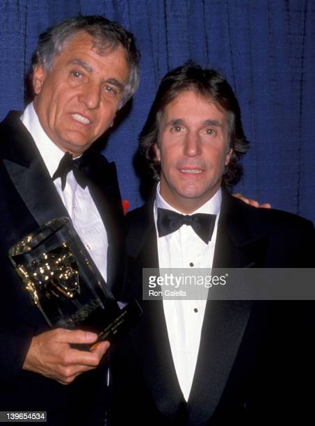 Actor Garry Marshall and Actor Henry Winkler attend the Fourth Annual American Comedy Awards on March 10 1990 at Shrine Auditorium in Los Angeles...