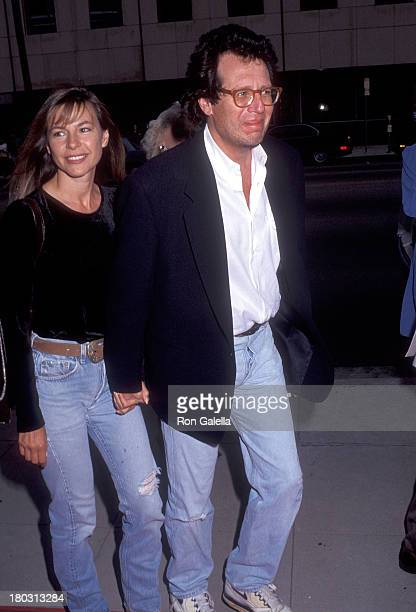 Actor Garry Shandling and girlfriend Linda Doucett attend A League of Their Own Beverly Hills Premiere on June 22 1992 at the Academy of Motion...