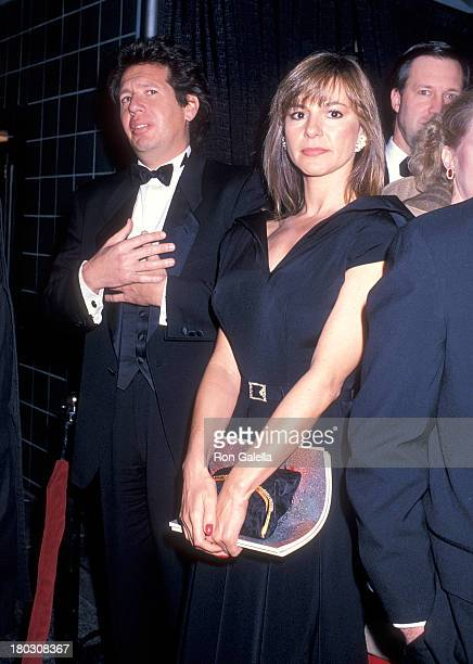 Actor Garry Shandling and girlfriend Linda Doucett attend the 10th Annual CableACE Awards on January 15 1989 at the Wiltern Theatre in Los Angeles...
