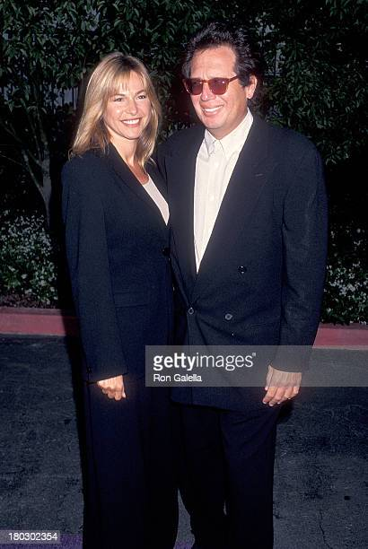 Actor Garry Shandling and girlfriend Linda Doucett attend the Third Annual MTV Movie Awards on June 4 1994 at Sony Pictures Studios in Culver City...