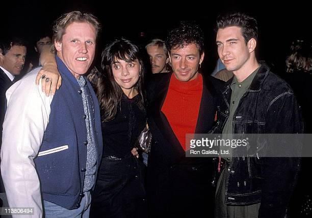 Actor Gary Busey actress Julie Carmen actor Ray Sharkey and actor Dylan McDermott attend the Screening of the Showtime Original Movie The Neon Empire...