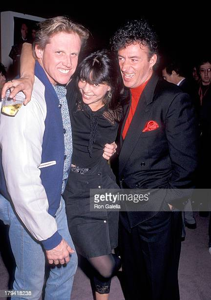 Actor Gary Busey actress Julie Carmen and actor Ray Sharkey attend the Screening of the Showtime Original Movie The Neon Empire on November 30 1989...