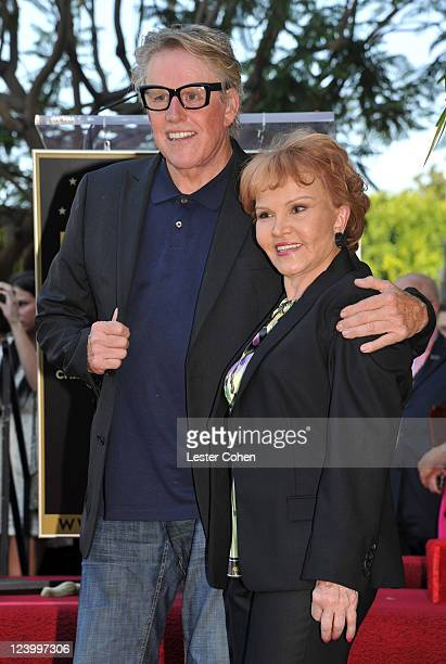 Actor Gary Busey and Maria Elena Holly attend a ceremony honoring Buddy Holly with the 2447th Star on the Hollywood Walk of Fame on September 7 2011...