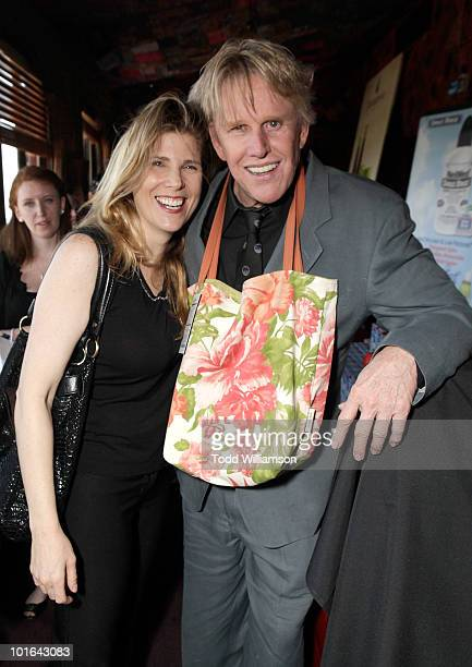 Actor Gary Busey and Steffanie Sampson attend the Melanie Segal's Celebrity S.O.S Lounge at House of Blues Sunset Strip on June 4, 2010 in West...