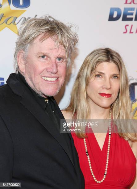 Actor Gary Busey and Steffanie Sampson Busey attend The 27th Annual Night Of 100 Stars Black Tie Dinner Viewing Gala at the Beverly Hilton Hotel on...