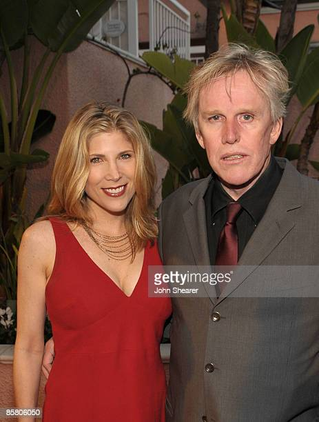 Actor Gary Busey and Stephanie Samuelson arrive at Smiles from the Stars A Tribute to the Life and Work of Roy Scheider at The Beverly Hills Hotel on...