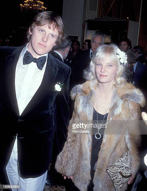 Actor Gary Busey and wife Judy attend the 36th Annual Golden Globe Awards on January 27 1979 at the Beverly Hilton Hotel in Beverly Hills California