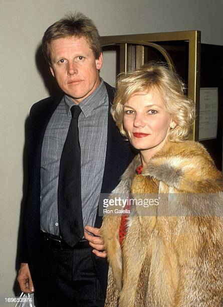 Actor Gary Busey and wife Judy attend the First Annual American Cinematheque Award Salute to Eddie Murphy on February 28 1986 at the Century Plaza...