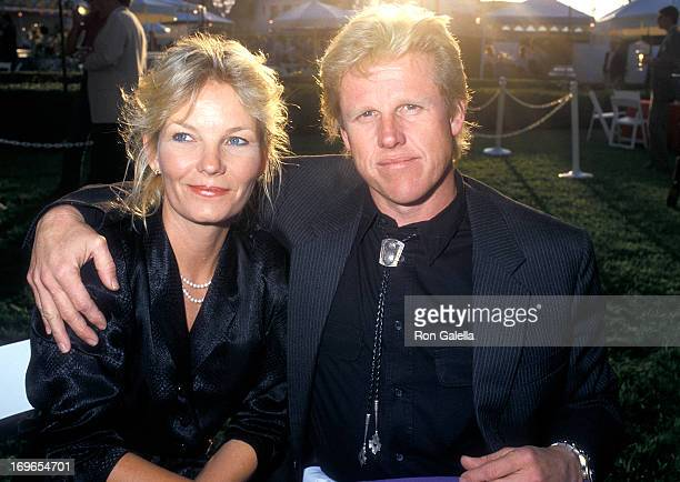 Actor Gary Busey and wife Judy attend the USA Today's Fifth Anniversary Celebration on September 10 1987 at Culver Studios in Culver City California