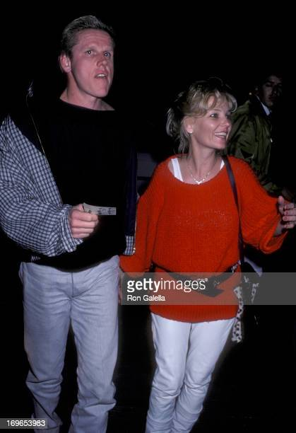 Actor Gary Busey and wife Judy on October 27 1986 dine at Nicky Blair's Restaurant in West Hollywood California