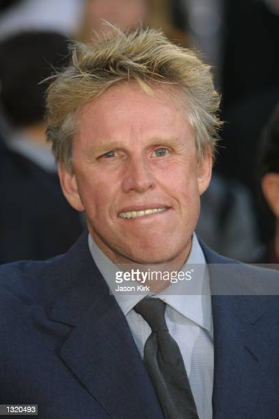 """Actor Gary Busey arrives at the world premiere of the film """"Lara Croft: Tomb Raider"""" June 11, 2001 in Westwood, CA."""