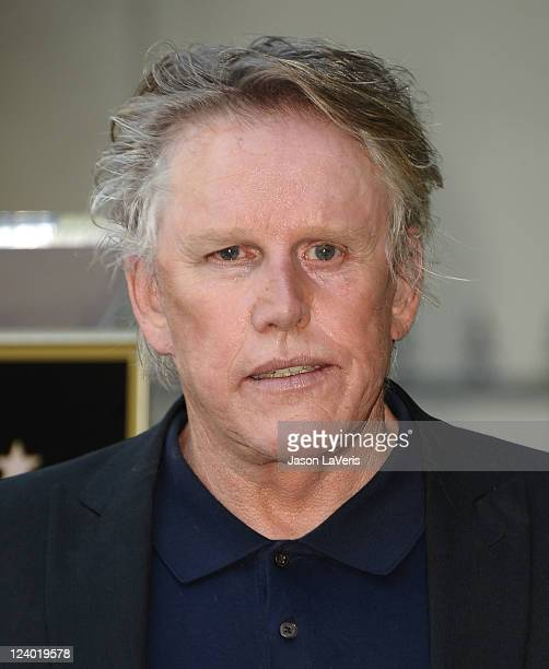 Actor Gary Busey attends Buddy Holly's induction into The Hollywood Walk of Fame on September 7 2011 in Hollywood California