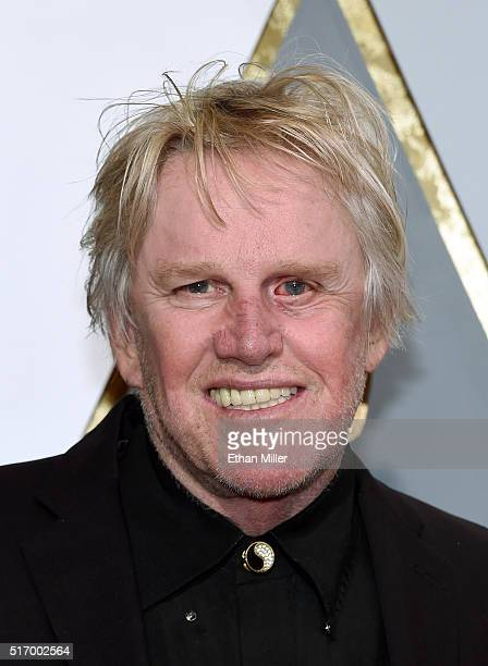 Actor Gary Busey attends the 88th Annual Academy Awards at Hollywood Highland Center on February 28 2016 in Hollywood California