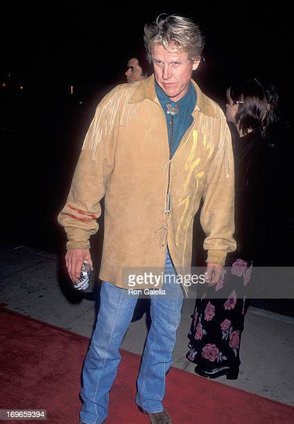 Actor Gary Busey attends the Dumb and Dumber Hollywood Premiere on December 6 1994 at Cinerama Dome in Hollywood California