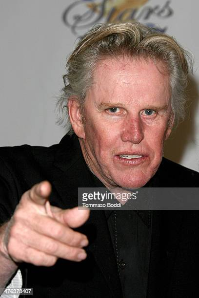 Actor Gary Busey attends the Norby Walters' 24nd annual Night Of 100 Stars Oscar viewing gala held at the Beverly Hills Hotel on March 2 2014 in...