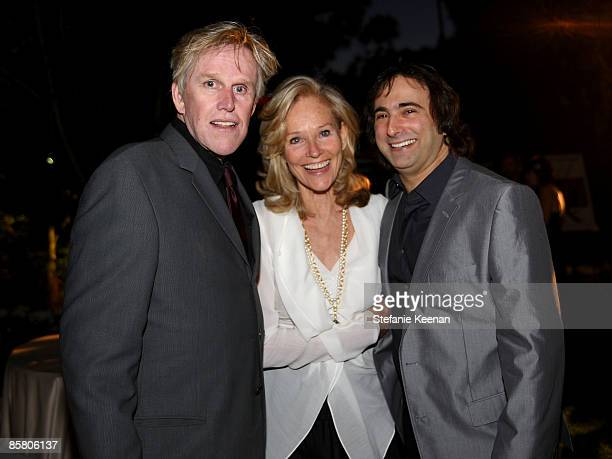 Actor Gary Busey, Brenda Siemer-Scheider and director Joshua Newton attend Smiles from the Stars: A Tribute to the Life and Work of Roy Scheider at...