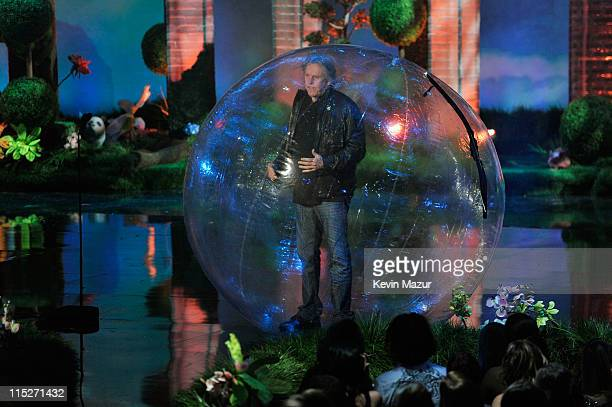 Actor Gary Busey performs onstage during the 2011 MTV Movie Awards at Universal Studios' Gibson Amphitheatre on June 5 2011 in Universal City...