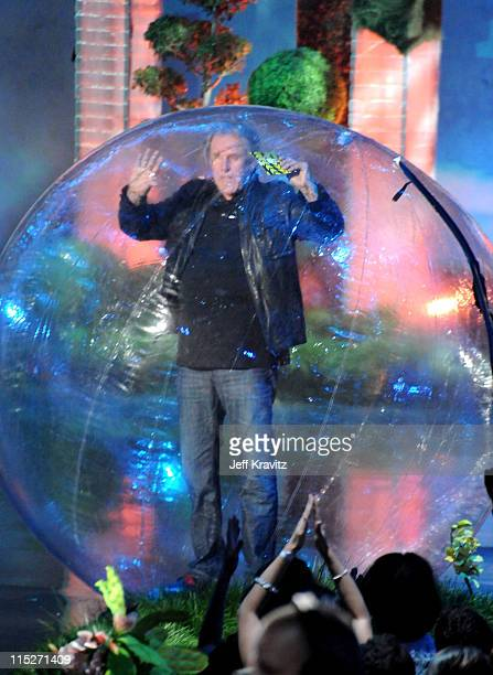 Actor Gary Busey speaks onstage during the 2011 MTV Movie Awards at Universal Studios' Gibson Amphitheatre on June 5 2011 in Universal City California