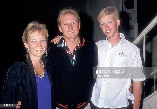 Actor Gary Busey wife Judy and son Jake attend the Crossroads School's Cabaret '87 Benefit Performance on May 9 1987 at the Wadsworth Theatre UCLA in...