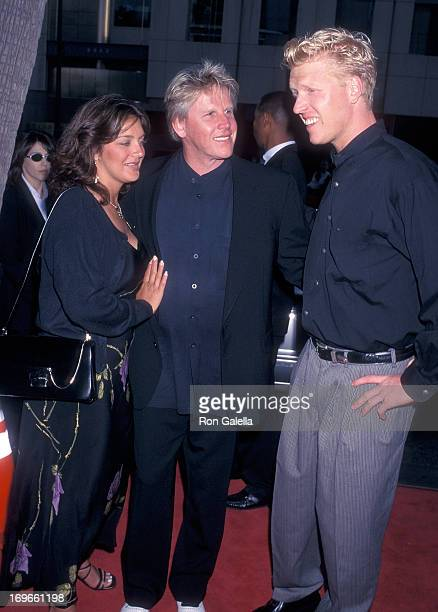 Actor Gary Busey wife Tiani Warden and his son Jake attend the Screening of the TNT Original Movie Rough Riders on July 17 1997 at the Academy...