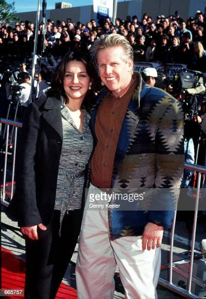 Actor Gary Busey with wife Tiani Warden attend the rerelease of Star Wars June 18 1997 in Los Angeles CA The couple separated June 18 2000 after...