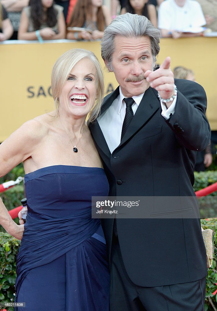 Actor Gary Cole (R) and Teddi Siddall attend the 21st Annual Screen Actors Guild Awards at The Shrine Auditorium on January 25, 2015 in Los Angeles, California.