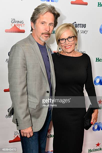 Actor Gary Cole and wife Teddi Siddall attend OK TV Awards Party at Sofitel Hotel on August 21 2014 in Los Angeles California