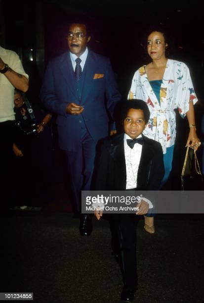 Actor Gary Coleman attends an event with his paents Edmonia Sue and WG Coleman circa 1980 in Los Angeles California