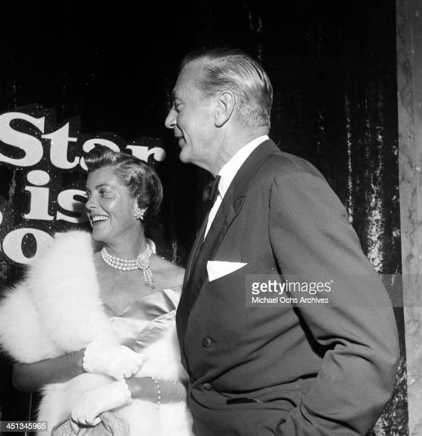Actor Gary Cooper and his wife Veronica Balfe attend a party in Los AngelesCalifornia