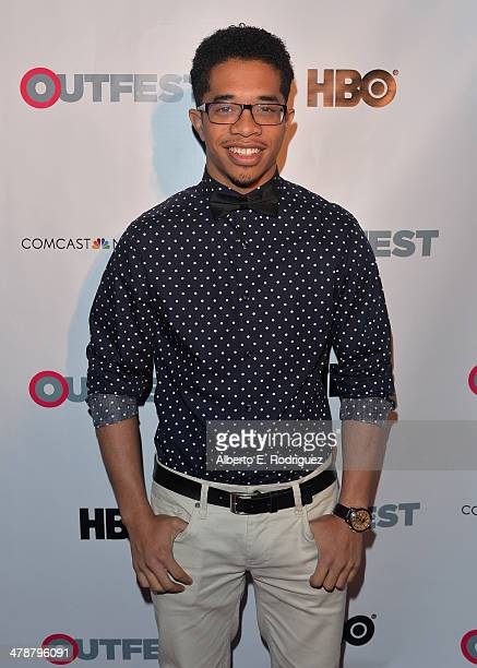 """Actor Gary LeRoi Gray arrives to the Outfest Fusion LGBT People of Color Film Fetival Opening Night Screening of """"Blackbird"""" at the Egyptian Theatre..."""