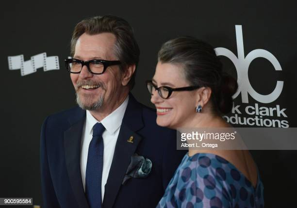 Actor Gary Oldman and Gisele Schmidt arrive for the 21st Annual Hollywood Film Awards held at The Beverly Hilton Hotel on November 5 2017 in Beverly...
