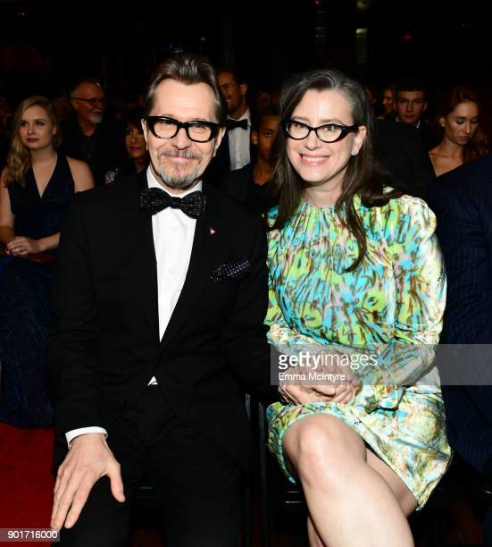 Actor Gary Oldman and Gisele Schmidt attend the 7th AACTA International Awards at Avalon Hollywood on January 5 2018 in Los Angeles California