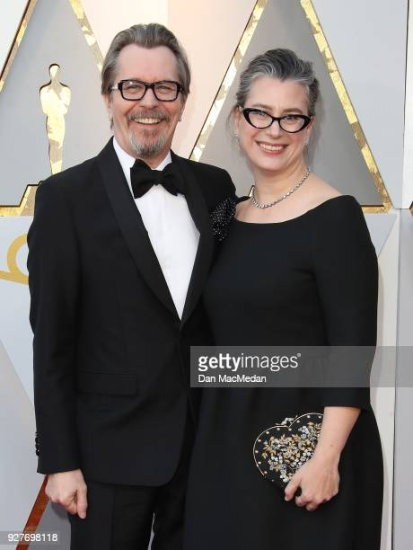 Actor Gary Oldman and Gisele Schmidt attend the 90th Annual Academy Awards at Hollywood Highland Center on March 4 2018 in Hollywood California