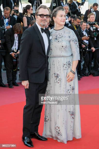 Actor Gary Oldman and wife Gisele Schmidt attend Closing Ceremony screening of 'The Man Who Killed Don Quixote' during the 71st annual Cannes Film...