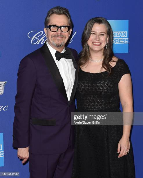 Actor Gary Oldman and wife Gisele Schmidt attend the 29th Annual Palm Springs International Film Festival Awards Gala at Palm Springs Convention...