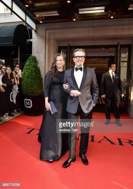 Actor Gary Oldman and Writer Gisele Schmidt attend as The Mark Hotel celebrates the 2018 Met Gala at The Mark Hotel on May 7 2018 in New York City